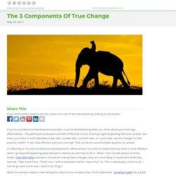 The 3 Components Of True Change - Robert Kaplinsky
