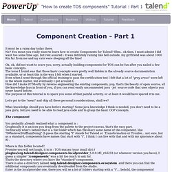 Talend Components Creation Tutorial - PowerUp BI consulting
