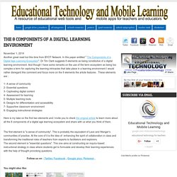 The 8 Components of A Digital Learning Environment