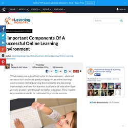 6 Important Components Of A Successful Online Learning Environment