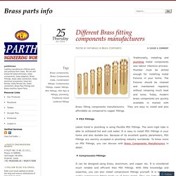 Different Brass fitting components manufacturers