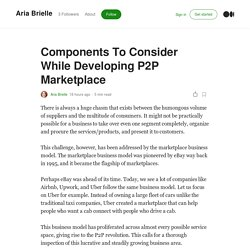 Components To Consider While Developing P2P Marketplace