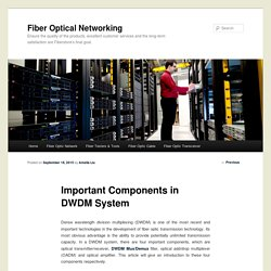 Important Components in DWDM System