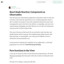 React Made Reactive: Components as Observables
