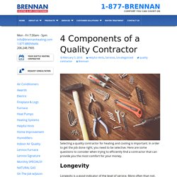 4 Components of a Quality Contractor