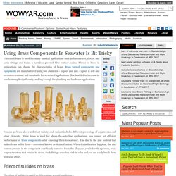 Using Brass Components In Seawater Is Bit Tricky – WowYar