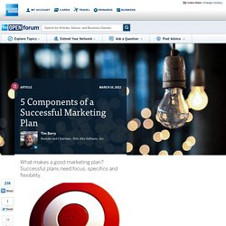 5 Components of a Successful Marketing Plan