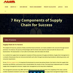 7 Key Components Of Supply Chain For Success - Navata