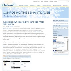 Embedding SWP Components into Web Pages with jQuery » TopQuadrant, Inc