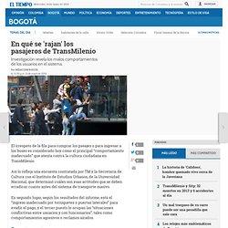 Malos comportamientos de pasajeros de TransMilenio - Bogotá