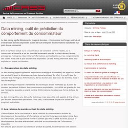 1 – Data mining et marketing