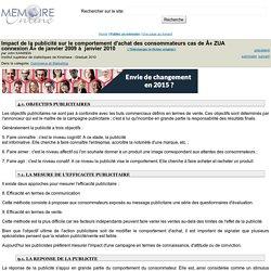 Impact de la publicité sur le comportement d'achat des consommateurs cas de Â« ZUA connexion » de janvier 2009 à janvier 2010 - John KANINDA