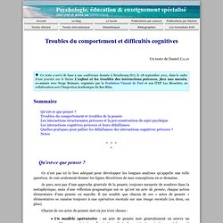 Troubles du comportement et difficultés cognitives