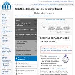 Troubles du comportement-Exemple de tableau des engagements — Wikiversité