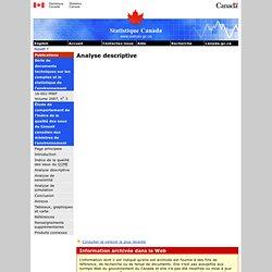 Étude de comportement de l'indice de la qualité des eaux du Conseil canadien des ministres de l'environnement : Analyse descriptive