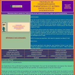 TROUBLES DE COMPORTEMENT : ESTIMEDESOI.NET