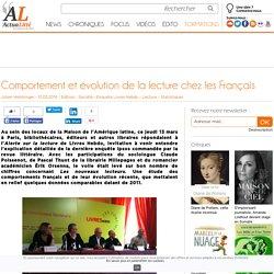 actualitte.com. Comportement et évolution de la lecture chez les Français. (Le point de vue des Libraires et des éditeurs)