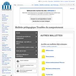 Accessi-Prof - Troubles du comportement