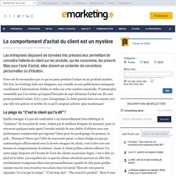 Le comportement d'achat du client est un mystère - Veille paroles d'experts - Shopper Marketing (2)