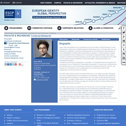 Isaac GETZ - Professeur - Comportement organisationnel, Management stratégique