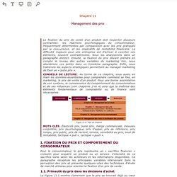 Lire en ligne L'essentiel du marketing - Chapitre 11: Management des prix (Prévisualisation)