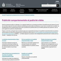 Publicité comportementale et publicité ciblée - Commissariat à la protection de la vie privée du Canada