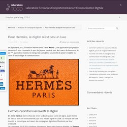 Laboratoire Tendances Comportementales et Communication Digitale