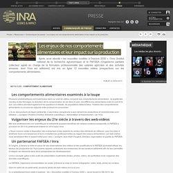 INRA 26/02/15 Les enjeux de nos comportements alimentaires et leur impact sur la production