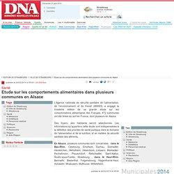 DNA 20/02/14 Etude sur les comportements alimentaires dans plusieurs communes en Alsace