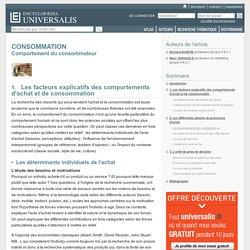 CONSOMMATION - Comportement du consommateur, Les facteurs explicatifs des comportements d'achat et de consommation