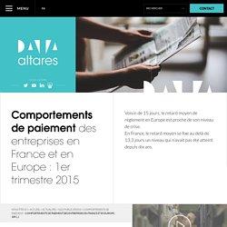Comportements de paiement des entreprises en France et en (...)