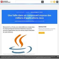 Une faille dans un composant expose des milliers d'applications Java