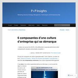 6 composantes d'une culture d'entreprise qui se démarque