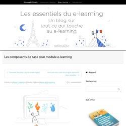 Les composants de base d'un module e-learning