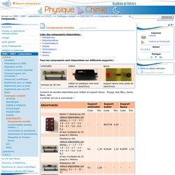 Composants montés- Physique - Chimie