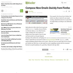 Compose New Emails Quickly from Firefox