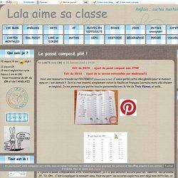 Le passé composé plié ! - Lala aime sa classe
