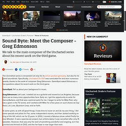 Sound Byte: Meet the Composer - Greg Edmonson
