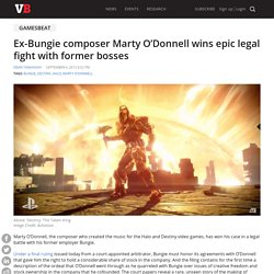 Ex-Bungie composer Marty O'Donnell wins epic legal fight with former bosses