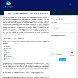 Conga Composer Document Generation in Salesforce