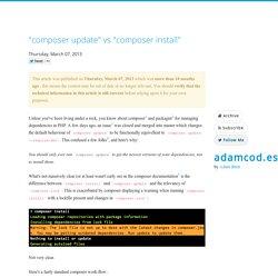 """""""composer update"""" vs """"composer install"""" - adamcod.es"""