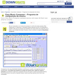 Easy Music Composer - Programa de composição de música