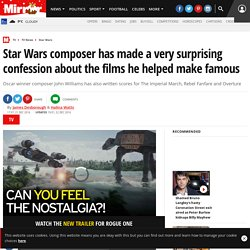 Star Wars composer has made a very surprising confession about the films he helped make famous