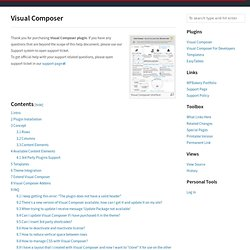 Visual Composer - WPBakery Knowledge Base