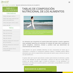 Tablas de composición nutricional de los alimentos