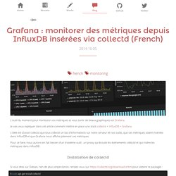 Grafana : monitorer des métriques depuis InfluxDB insérées via collectd (French) - Blog - Vincent Composieux, Développeur PHP Symfony, Golang, Python, NodeJS