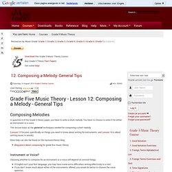 12. Composing a Melody: General Tips