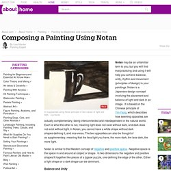 Composing a Painting Using Notan