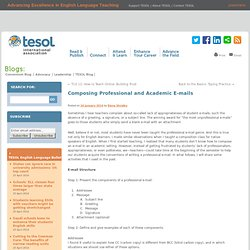 Composing Professional and Academic E-mails