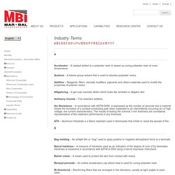 Composite Materials Industry Terms
